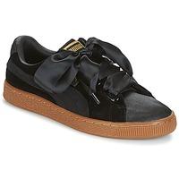 Schoenen Dames Lage sneakers Puma BASKET HEART VS W'N Zwart