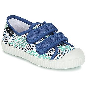 Schoenen Jongens Lage sneakers Aster MICKY Wit / Blauw