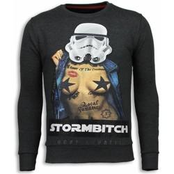 Textiel Heren Sweaters / Sweatshirts Local Fanatic Stormbitch - Rhinestone Sweater Grijs