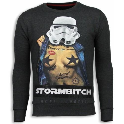 Textiel Heren Sweaters / Sweatshirts Local Fanatic Stormbitch Rhinestone Ciet Grijs