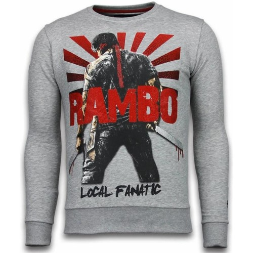 Textiel Heren Sweaters / Sweatshirts Local Fanatic Rambo Rhinestone Licht Grijs