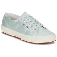 Schoenen Dames Lage sneakers Superga 2750 SATIN W Blauw / Zilver