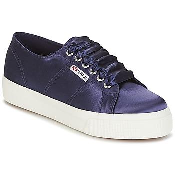 Schoenen Dames Lage sneakers Superga 2730 SATIN W Marine