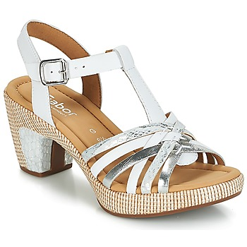 Schoenen Dames Sandalen / Open schoenen Gabor MASTIAR Wit / Zilver