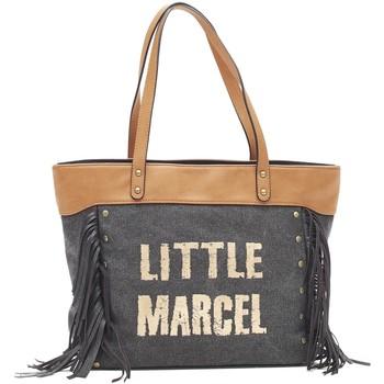 Tassen Dames Tote tassen / Boodschappentassen Little Marcel Sac Shopping Victoire Noir VI 01 Zwart