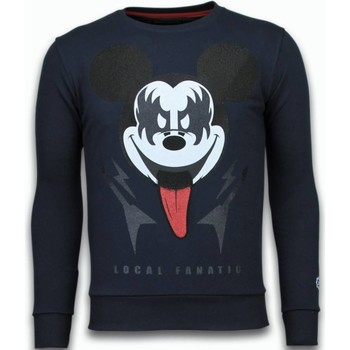 Textiel Heren Sweaters / Sweatshirts Local Fanatic Kiss My Mickey Rhinestone Blauw