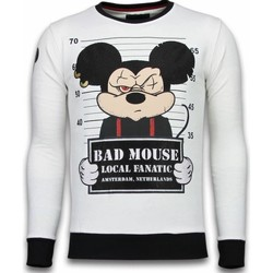 Textiel Heren Sweaters / Sweatshirts Local Fanatic Bad Mouse - Rhinestone Sweater - Wit