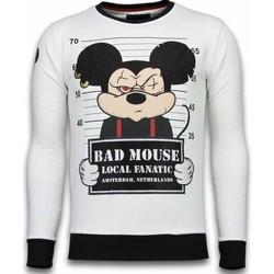 Textiel Heren Sweaters / Sweatshirts Local Fanatic Bad Mouse - Rhinestone Sweater 1