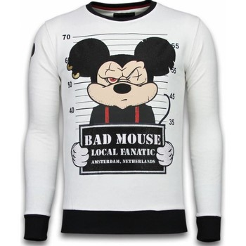 Textiel Heren Sweaters / Sweatshirts Local Fanatic Bad Mouse - Rhinestone Sweater 1