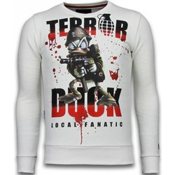 Textiel Heren Sweaters / Sweatshirts Local Fanatic Terror Duck Rhinestone Wit