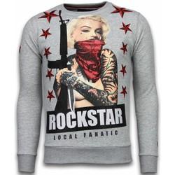 Textiel Heren Sweaters / Sweatshirts Local Fanatic Marilyn Rockstar - Rhinestone Sweater 35