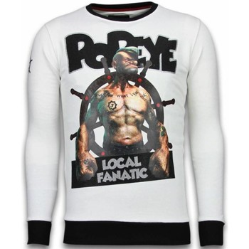 Textiel Heren Sweaters / Sweatshirts Local Fanatic Popeye Rhinestone Wit