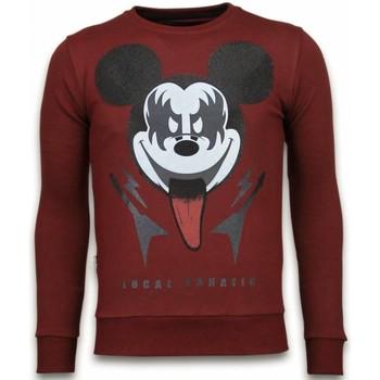 Textiel Heren Sweaters / Sweatshirts Local Fanatic Kiss My Mickey - Rhinestone Sweater - Bordeaux