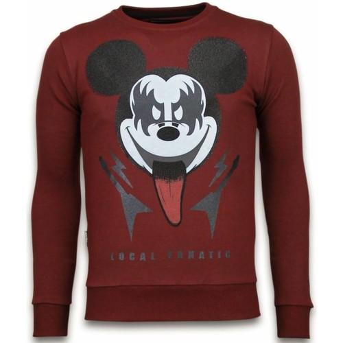 Textiel Heren Sweaters / Sweatshirts Local Fanatic Kiss My Mickey Rhinestone Bordeaux