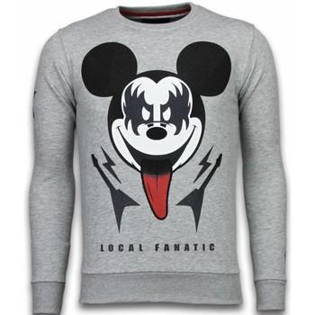 Textiel Heren Sweaters / Sweatshirts Local Fanatic Kiss My Mickey - Rhinestone Sweater 35