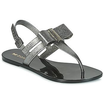 Schoenen Dames Sandalen / Open schoenen Zaxy GLAZE SAND AD Zilver / Zwart