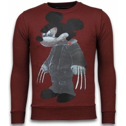 Textiel Heren Sweaters / Sweatshirts Local Fanatic Bad Mouse - Rhinestone Sweater Bordeaux