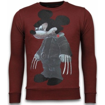 Textiel Heren Sweaters / Sweatshirts Local Fanatic Bad Mouse Rhinestone Bordeaux