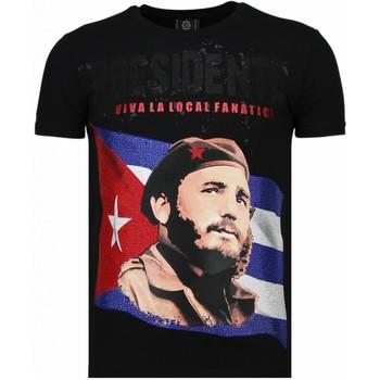 Textiel Heren T-shirts korte mouwen Local Fanatic Presidente - Rhinestone T-shirt 38