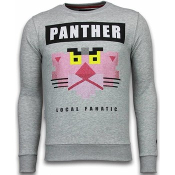 Textiel Heren Sweaters / Sweatshirts Local Fanatic Panther Rhinestone Grijs