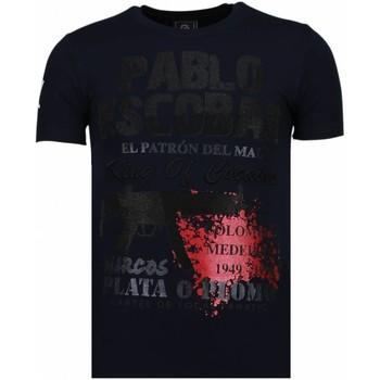Textiel Heren T-shirts korte mouwen Local Fanatic Pablo Escobar Narcos - Rhinestone T-shirt 19