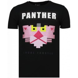 Textiel Heren T-shirts korte mouwen Local Fanatic Panther For A Cougar - Rhinestone T-shirt 38