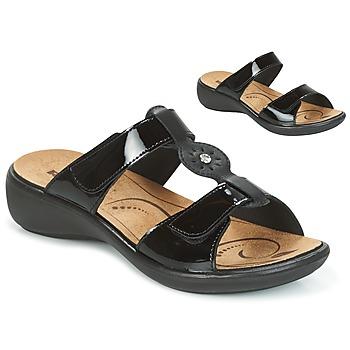 Schoenen Dames Leren slippers Romika IBIZA 82 Zwart