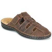 Schoenen Heren Leren slippers TBS BASSOA Bruin