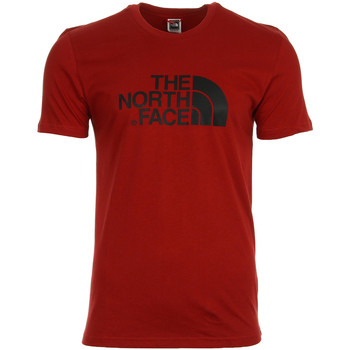 Textiel Heren T-shirts korte mouwen The North Face Easy Tee Red rood