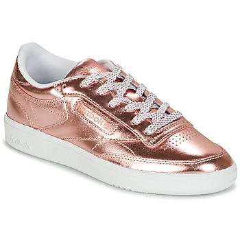 Schoenen Dames Lage sneakers Reebok Classic CLUB C 85 S SHINE Roze / Metaal