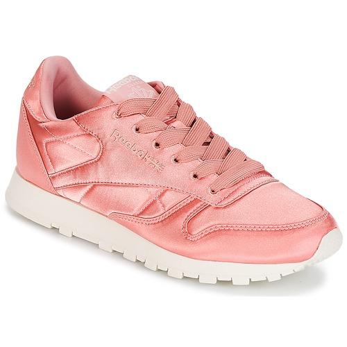 Chaussures En Cuir Reebok Cl Satin Rose W L7L34pNui