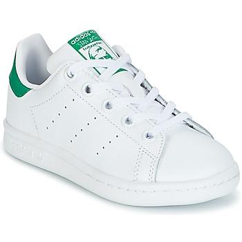 Schoenen Kinderen Lage sneakers adidas Originals STAN SMITH C Wit / Groen