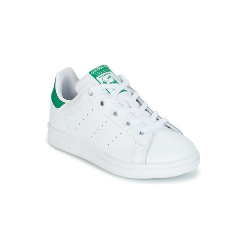 191fecd6a9b ... cheapest schoenen kinderen lage sneakers adidas originals stan smith c  wit groen 15db6 c6b4d