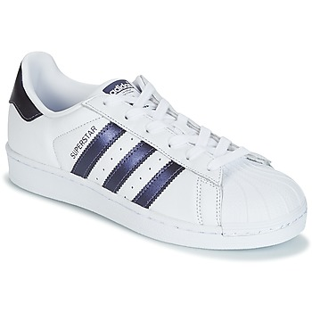 Schoenen Dames Lage sneakers adidas Originals SUPERSTAR W Wit / Blauw