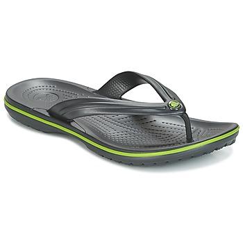 Schoenen Teenslippers Crocs CROCBAND FLIP Zwart / Groen