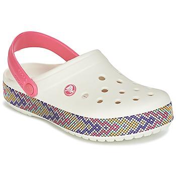 Schoenen Dames Klompen Crocs CROCBAND GALLERY CLOG Wit / Roze