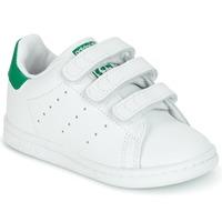 Schoenen Kinderen Lage sneakers adidas Originals STAN SMITH CF I Wit / Groen