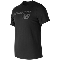 Textiel Heren T-shirts korte mouwen New Balance Tee shirt NB Athletics Main Logo Tee Zwart
