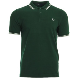 Textiel Heren Polo's korte mouwen Fred Perry Twin Tipped  Shirt Ivy Snow White groen
