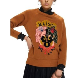Textiel Dames Sweaters / Sweatshirts Maison Scotch CREW NECK SWEAT IN CLEAN QUALITY Camel