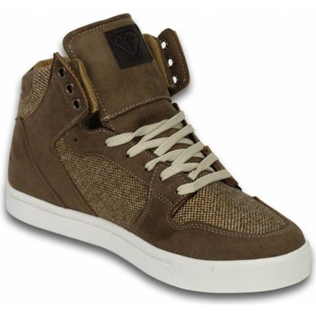 Schoenen Heren Hoge sneakers Cash Money High Riff Taupe Beige, Bruin