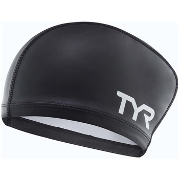 Accessoires Sportaccessoires Tyr Silicone Coated long hair Cap Zwart