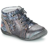 Schoenen Meisjes Laarzen GBB ROSEMARIE Vnv / Grijs /  bleu-imprime / Dpf / Kezia