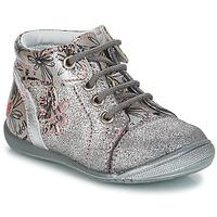 Schoenen Meisjes Laarzen GBB ROSEMARIE Vct / Grijs /  argent-imprime / Dpf / Kezia