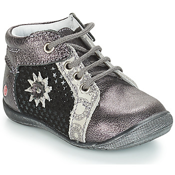 Schoenen Meisjes Laarzen GBB RESTITUDE Zilver / Zwart / Grijs