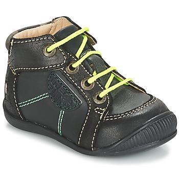 Schoenen Jongens Laarzen GBB RACINE Grijs / Zwart
