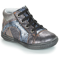 Schoenen Meisjes Hoge sneakers GBB ROSETTA Zilver / Blauw