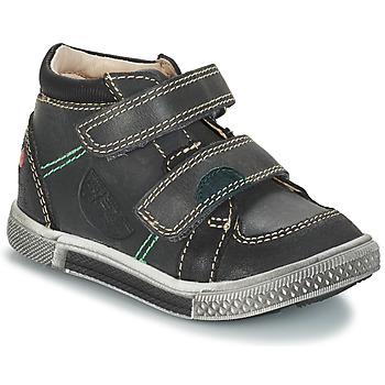 Schoenen Jongens Laarzen GBB ROBERT Ctu / Grijs - zwart / Dpf / Stryke
