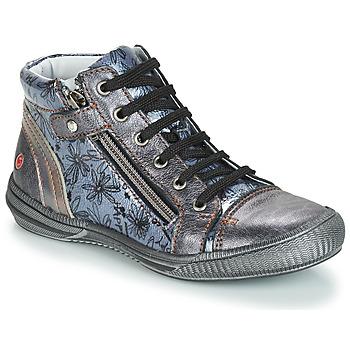 Schoenen Meisjes Laarzen GBB RACHIDA Vnv / Grijs /  bleu-imprime / Dpf / Sabina