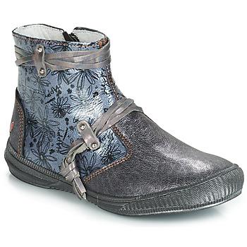 Schoenen Meisjes Hoge laarzen GBB REVA Vnv / Grijs /  bleu-imprime / Dpf / Sabina
